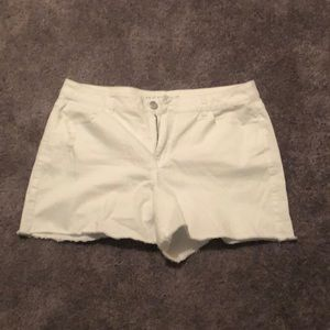 Lane Bryant white shorts